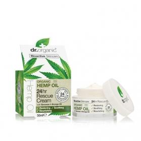 Dr Organic Hemp Oil crema rescate de cáñamo 24H 50 ml