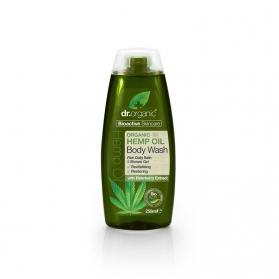 Dr Organic Hemp Oil gel de baño corporal de cáñamo 250 ml