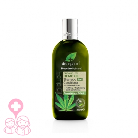 Dr Organic Hemp Oil champú&acondicionador de cáñamo 265 ml
