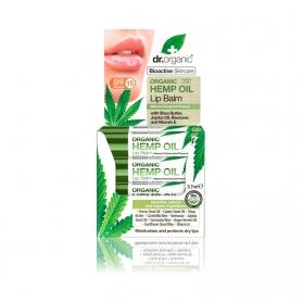 Dr Organic Hemp Oil bálsamo labial de cáñamo SPF 15