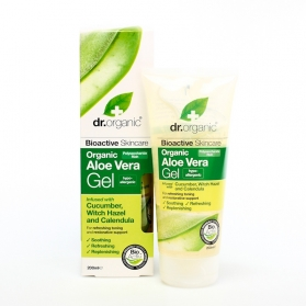 Dr Organic Aloe Vera gel con pepino, avellana y caléndula 200 ml