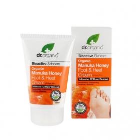 Dr.Organic Manuka Honey crema hidratante para pies y talones 125 ml