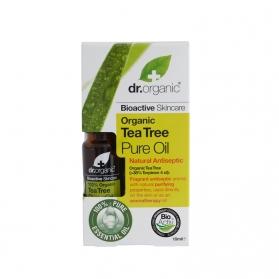 Dr.Organic Tea Tree aceite puro de árbol del té 10ML