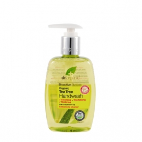 Dr Organic Tea Tree gel antiséptico para manos con árbol del té 250 ml
