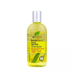 Dr Organic Tea Tree champú para cabello graso con árbol del té 265 ml