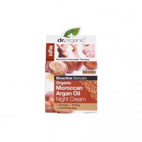 Dr Organic Moroccan Argan Oil crema de noche anti-arrugas 50 ml