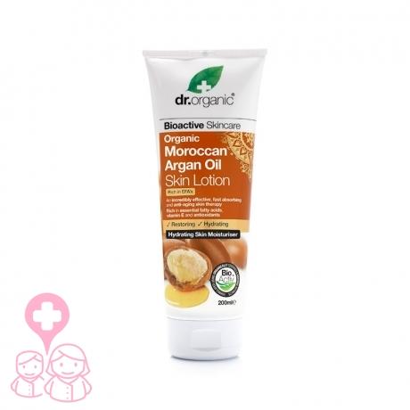 Dr Organic Moroccan Argan Oil loción corporal anti-edad 200 ml