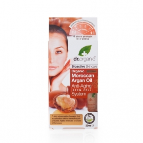 Dr Organic Moroccan Argan Oil tratamiento antiedad global con células madre 30 ml