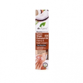 Dr Organic Virgin Coconut Oil crema nutritiva para manos y uñas 100 ml