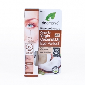 Dr Organic Virgin Coconut Oil contorno de ojos mirada perfecta 15 ml