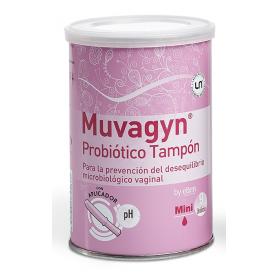 Muvagyn probiotico tampon  vaginal  mini c/ aplicador 9 tampones