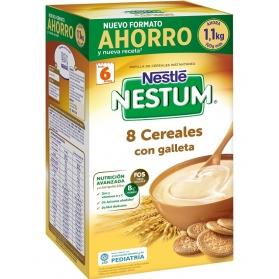 Nestlé Nestum papilla 8 cereales con galleta formato AHORRO 1,1 KG