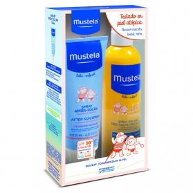 Mustela pack leche solar spf50+ 300ml + spray post solar 125ml