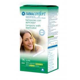 Farmaconfort tampón Super de algodón ecológico 14uds