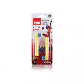 Phb active junior recambio para cepillo dental eléctrico 2uds