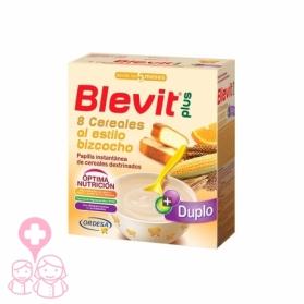Blevit Plus Duplo 8 cereales con bizcocho 600 gr
