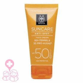Apivita Suncare crema protección solar facial antimanchas SPF50 50ml