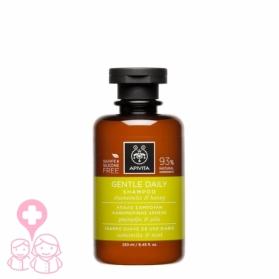 Apivita champú suave de uso diario con camomila y miel 250 ml