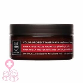 Apivita mascarilla protectora del color con girasol y miel 200 ml