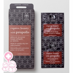 Apivita Express Beauty mascarilla para piel joven grasa con propóleo 2 x 8 ml