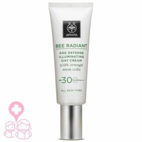 Apivita Bee Radiant crema iluminadora SPF30 con células madre de tallo de naranjo 40 ml