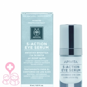 Apivita 5-action eye sérum con lirio blanco 15 ml
