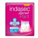 Indasec Pant Plus Discreet talla M pérdidas moderadas 12 uds