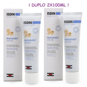 Isdin Baby Skin Nutraisdin ZN40 pomada reparadora duplo 2X100 ml