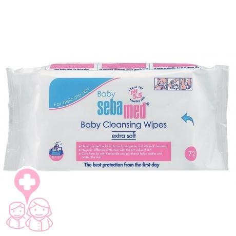 Baby sebamed toallitas limpiadoras extra sueaves 72uds