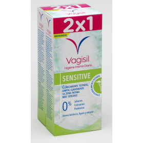 Vagisil duplo higiene íntima diaria sensitive 2x250ml