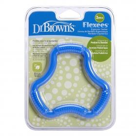 Dr Brown´s Fleexes aro mordedor y masajeador ergonómico azul +3M