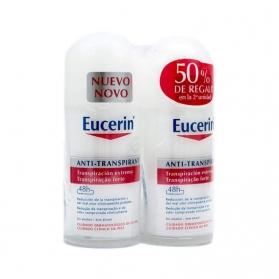 Eucerin Transpiración Extrema DUPLO desosorante roll-on 48 horas 2x50 ml