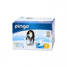 Pañales Pingo Mini T-2 3-6 KG 84 uds Ecológicos de Celulosa