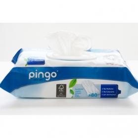 Pingo toallitas húmedas ecológicas con Aloe Vera y Chamomila 80 uds