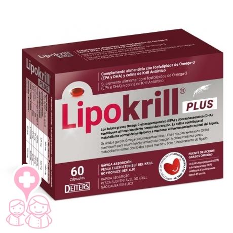 Lipokrill Plus salud cardiovascular 60 cápsulas con EPA y DHA