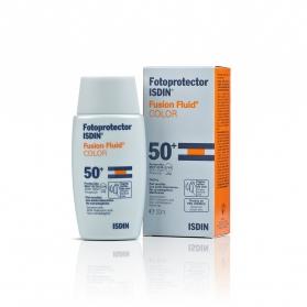 Fotoprotector Isdin Fusion Fluid SPF 50+ con color 50 ml