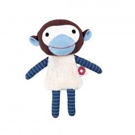 Franck&Fischer peluche de algodón orgánico Mono Azul