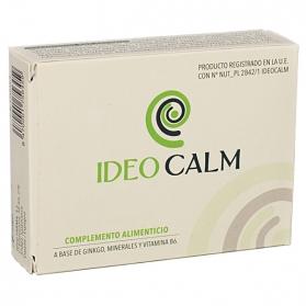 Ideocalm 560 mg 30 cápsulas función auditiva con Gingko y Triptófano