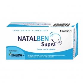 Natalben Supra embarazo 30 cápsulas con Omega 3, Vitaminas y Minerales
