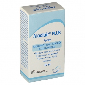 Aloclair Plus spray para aftas 15 ml con Aloe Vera y ácido Hialurónico