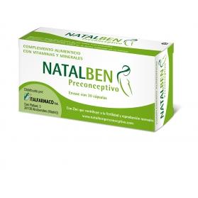 Natalben Preconceptivo 30 cápsulas con Omega 3, Vitaminas y Minerales
