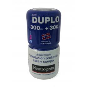 Neutrogena Comfort Balm DUPLO hidratación profunda cara y cuerpo 2x300 ml