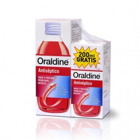 Oraldine colutorio antiséptico PACK 400+200 ml