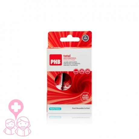 PHB pasta dental de viaje 3x15 ml
