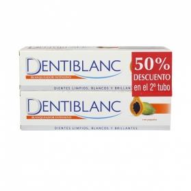 Dentiblanc Intensivo DUPLO pasta de dientes 2x100 ml con Papaína