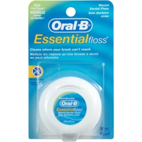 Oral-B Essential Floss Hilo dental con Flúor y Menta 50M