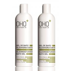 OHO DUPLO gel de baño sin jabón para piel atópica 400ml+400ml
