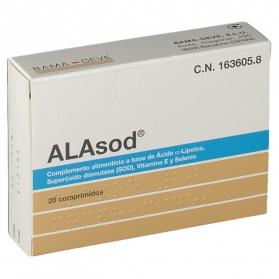 Alasod 20 comprimidos antioxidantes con Ácido Lipoico