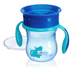 Chicco vaso Perfect 360º azul +12M 200 ml