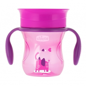 Chicco vaso Perfect 360º rosa +12M 200 ml